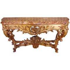 19th Century Large Louis XV Style Console