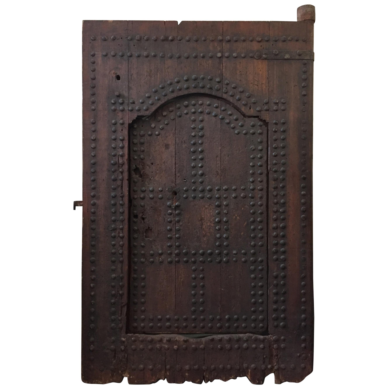 19th Century Large Moroccan Ryad Studded Moorish Antique Door