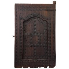 19th Century Large Moroccan Ryad Studded Moorish Antique Door