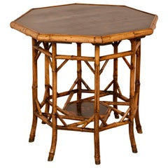 19th Century Large Octagonal Bamboo Table