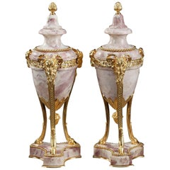 19th Century Large Pair of Covered Urns in Louis XVI Style