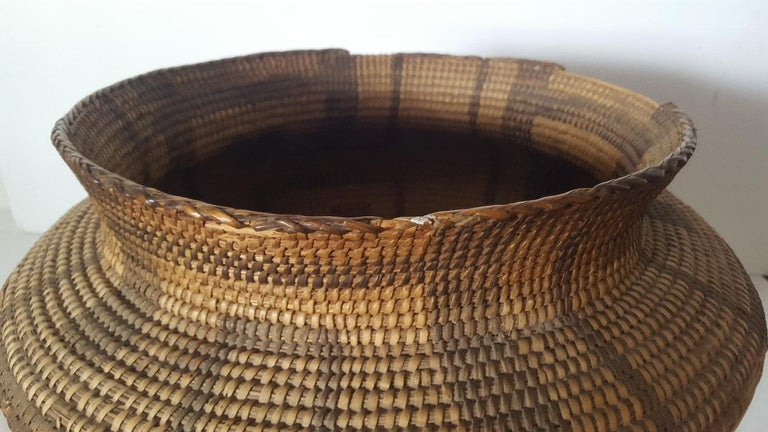 Woven 19th Century, Large Pima-Papago Native American Basket For Sale
