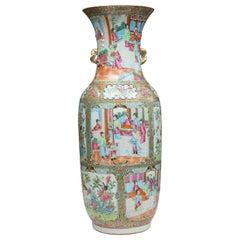 19th Century Large Rose Medallion Vase