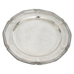 19th Century Large Silver Platter Emile Puiforcat Paris 1880 Silver 948