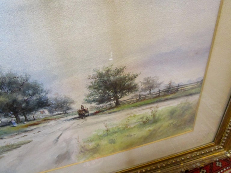 19th Century Large Size Framed Watercolor by American Painter Frank F. English For Sale 4