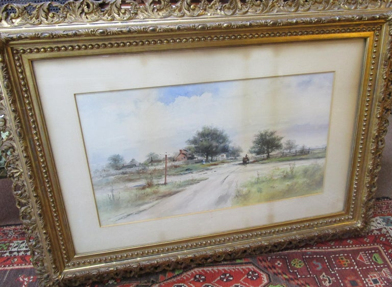 19th Century Large Size Framed Watercolor by American Painter Frank F. English For Sale 6