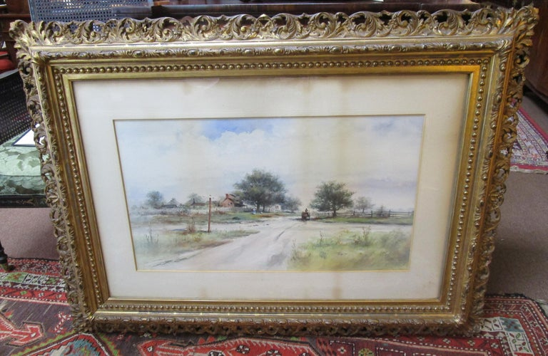 19th Century Large Size Framed Watercolor by American Painter Frank F. English For Sale 7