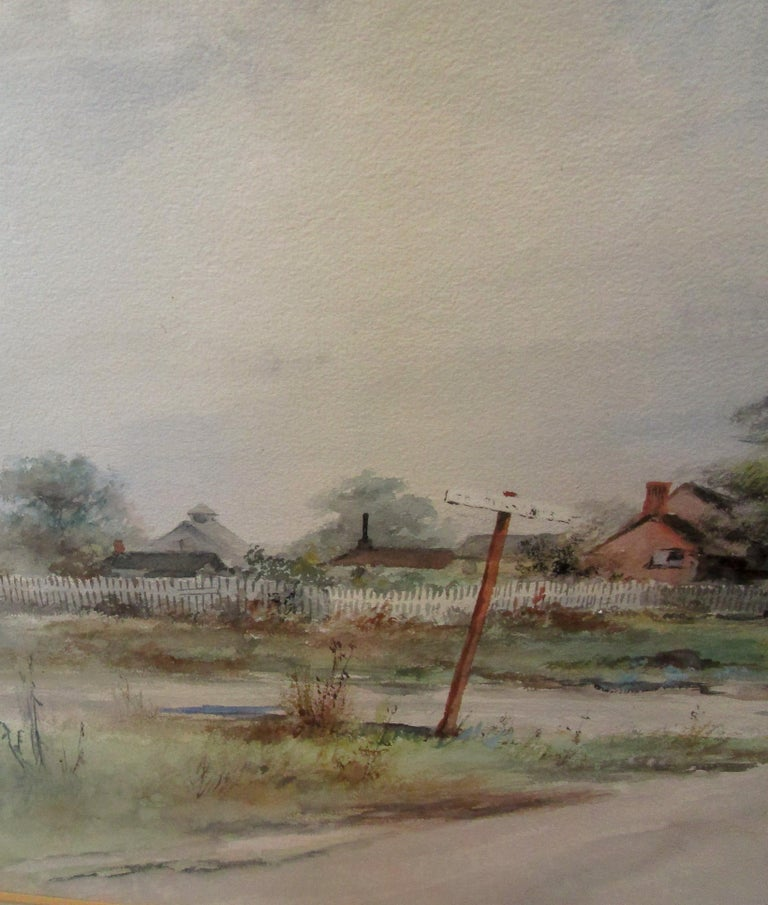 Late 19th Century 19th Century Large Size Framed Watercolor by American Painter Frank F. English For Sale