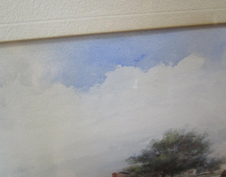 19th Century Large Size Framed Watercolor by American Painter Frank F. English For Sale 1