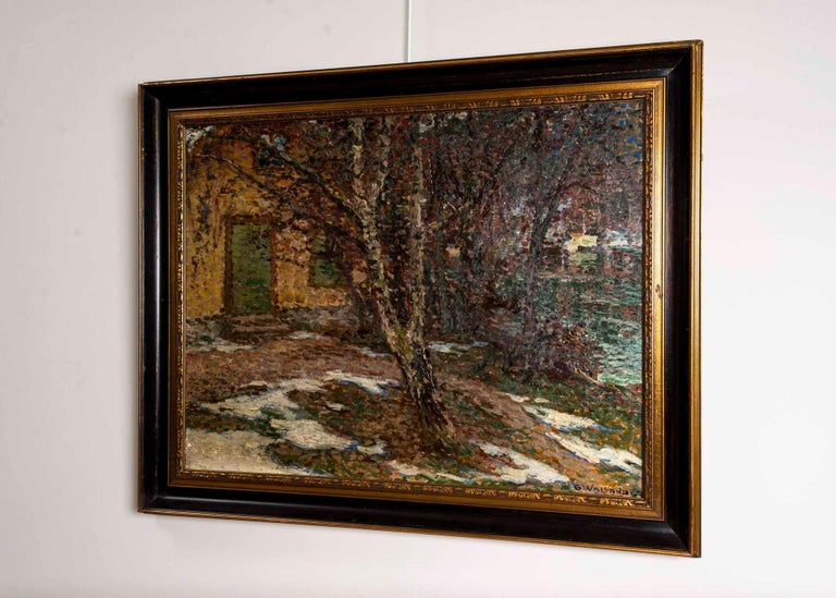 Expressionist 19th Century Large Swedish Oil Painting 'Barwinter', Gerda Wallander