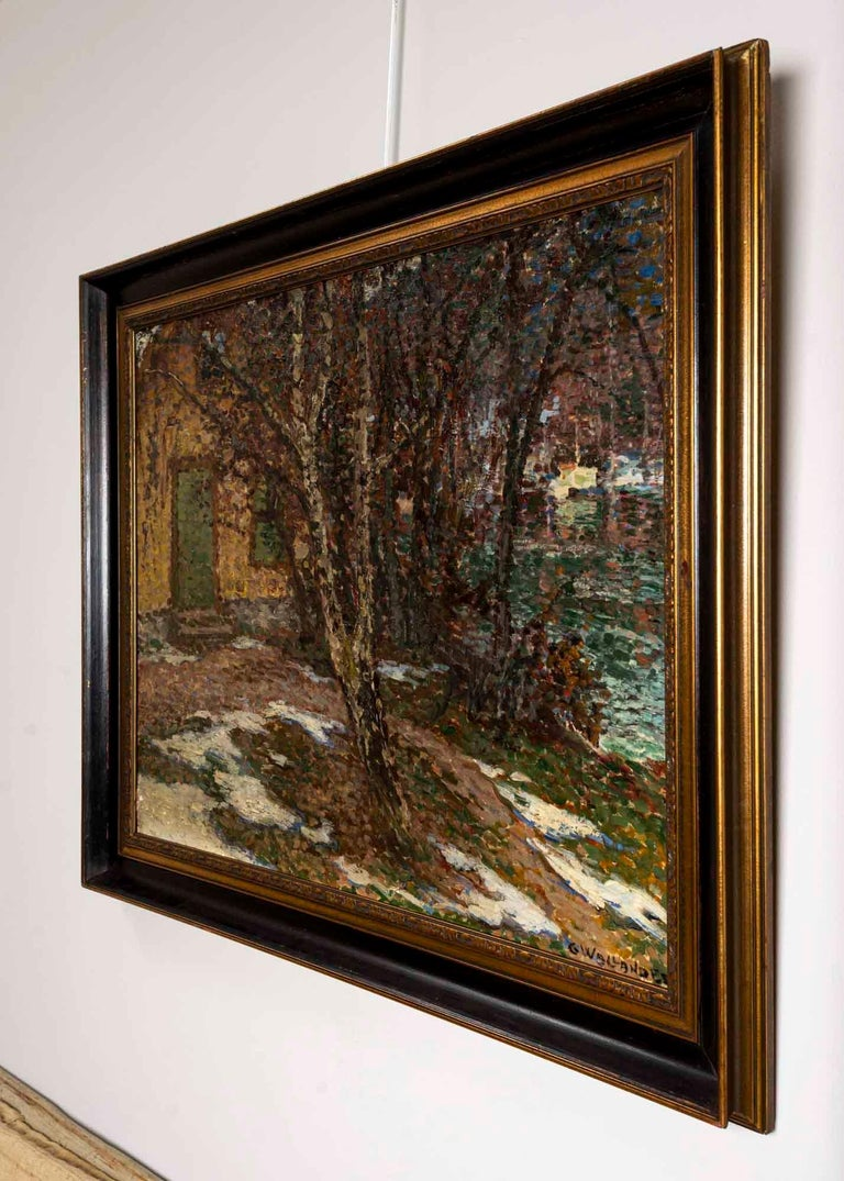 Painted 19th Century Large Swedish Oil Painting 'Barwinter', Gerda Wallander