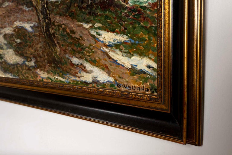19th Century Large Swedish Oil Painting 'Barwinter', Gerda Wallander In Good Condition In London, GB