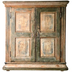 19th Century Large Swedish Painted Armoire/Cabinet