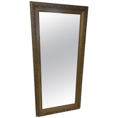 19th Century Large Tall Victorian Gessoed Mirror
