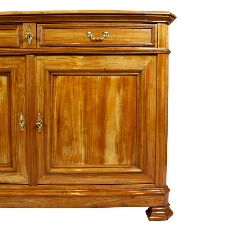 19th Century Late Biedermeier Cherrywood Sideboard from Switzerland For Sale 2