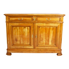19th Century Late Biedermeier Cherrywood Sideboard from Switzerland