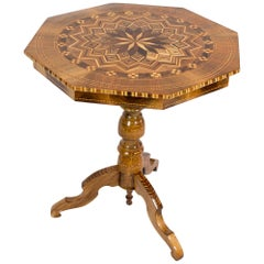 19th Century Late Biedermeier Marquetry Side Table