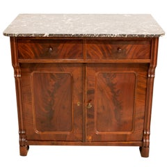 19th Century Late Biedermeier or Louis Philippe Mahogany Half Cabinet