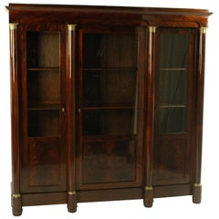 19th Century Late Biedermeier Period Mahogany Glass Cabinet circa 1850 Red brown