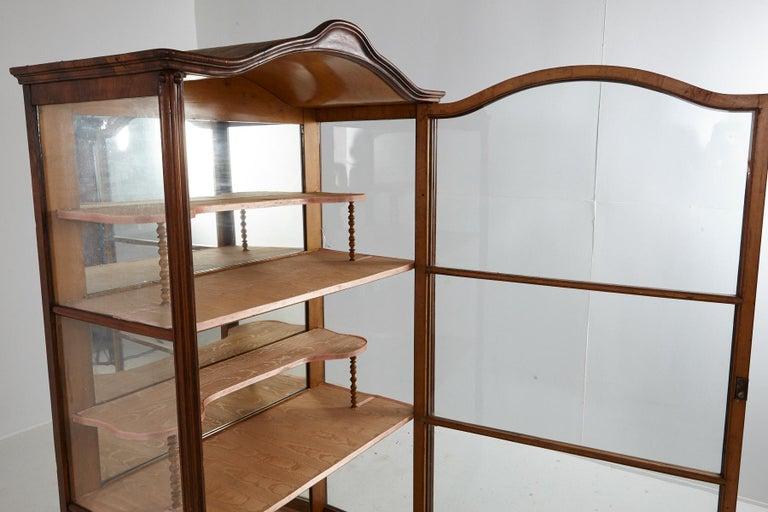 19th Century Late Biedermeier Walnut Display Cabinet / Vitrine 5