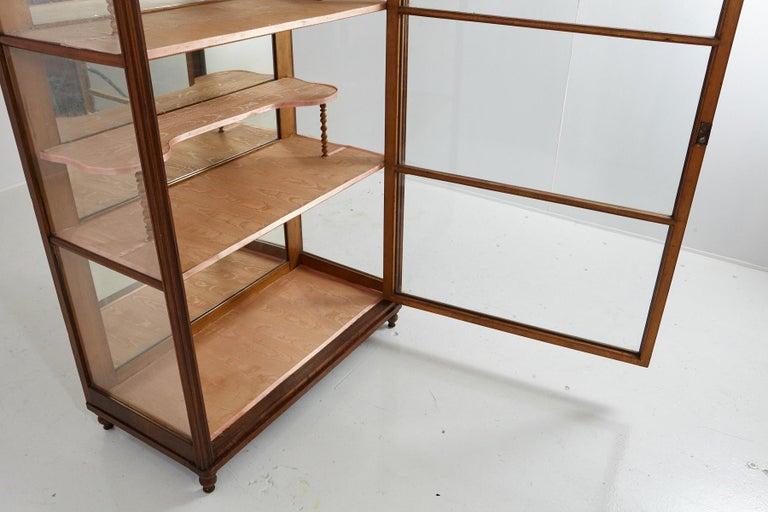19th Century Late Biedermeier Walnut Display Cabinet / Vitrine 6