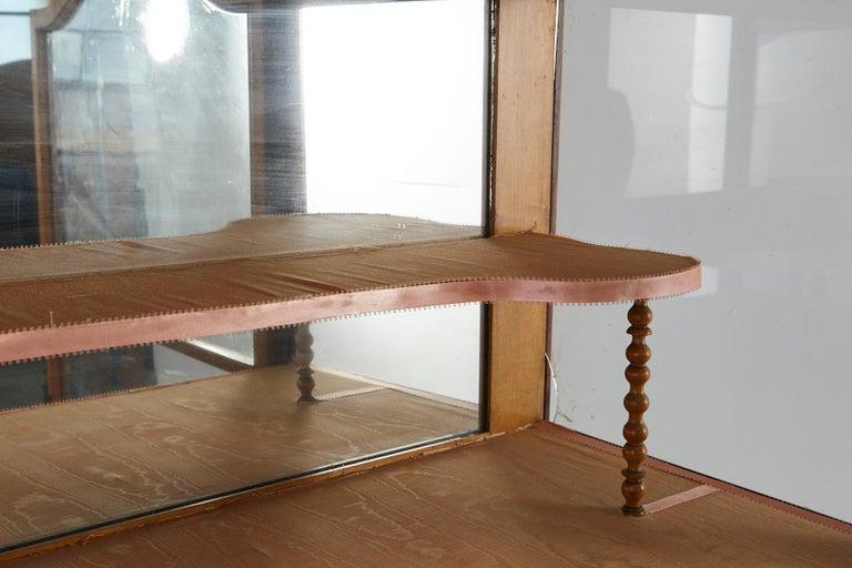 19th Century Late Biedermeier Walnut Display Cabinet / Vitrine 8
