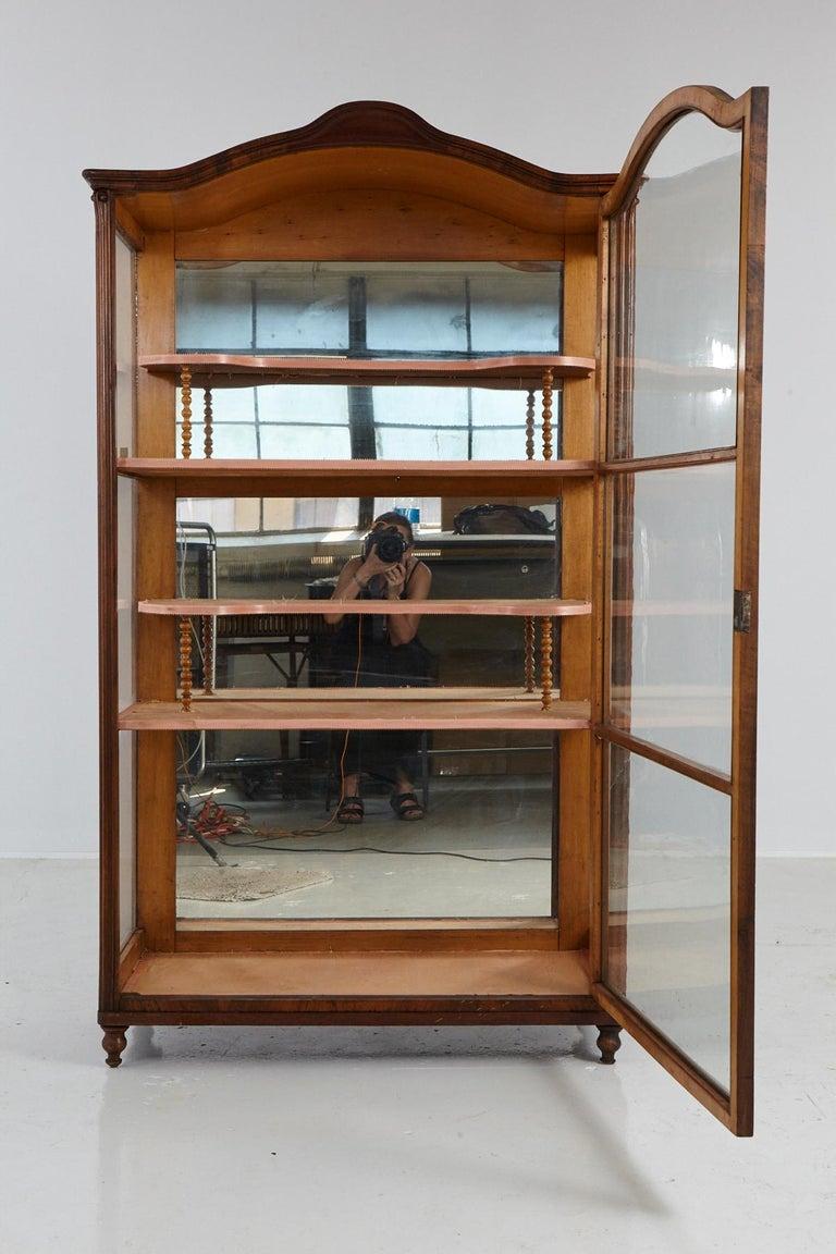 19th Century Late Biedermeier Walnut Display Cabinet / Vitrine In Good Condition In Pau, FR