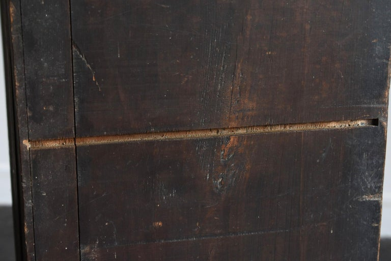 19th Century Late Edo Period Meiji Period Wood Black Drawer Chest / Tansu Chest For Sale 7