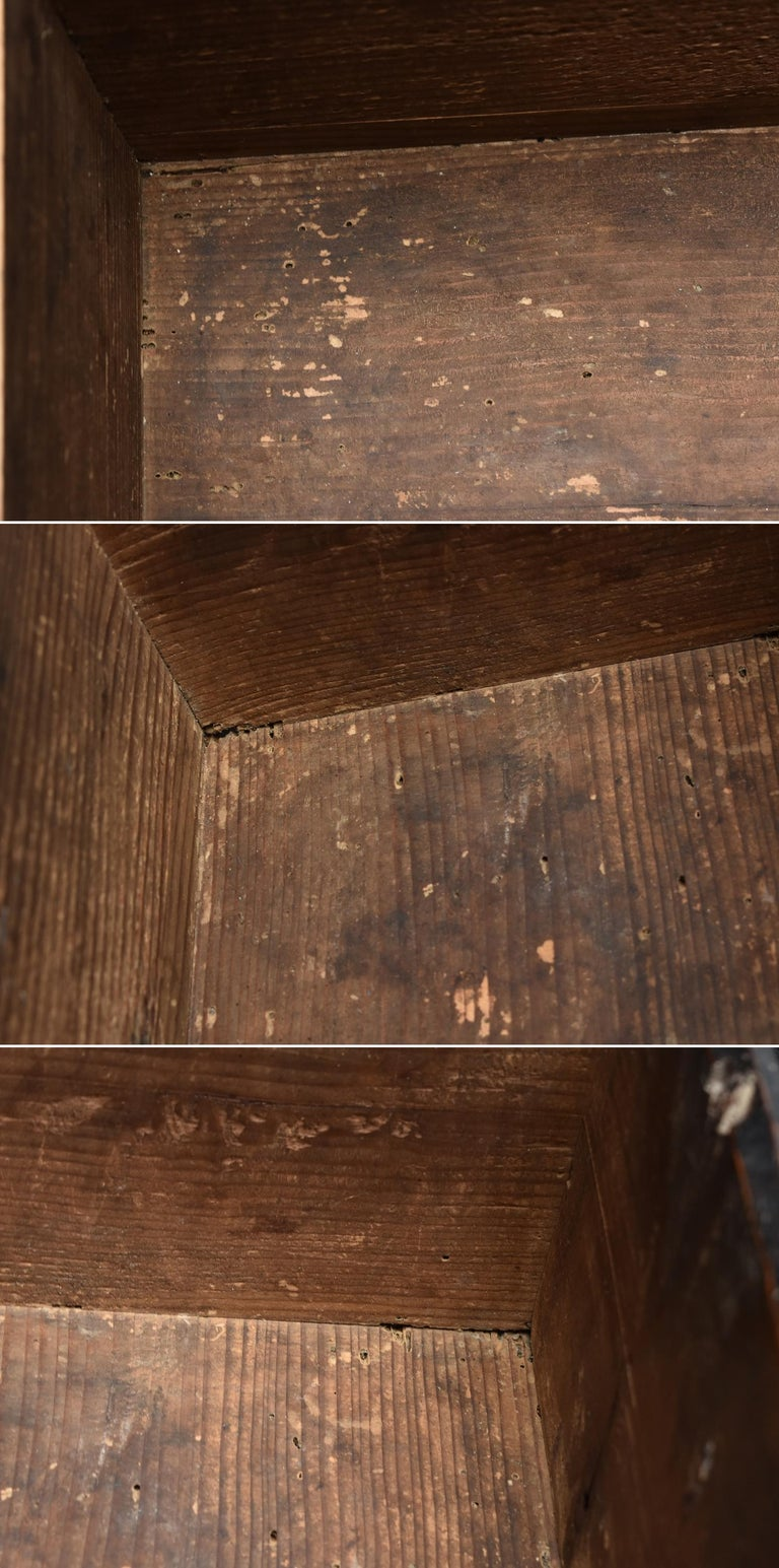 19th Century Late Edo Period Meiji Period Wood Black Drawer Chest / Tansu Chest For Sale 13