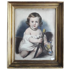 19th Century, Late Victorian, Lithoraphy of a Baby