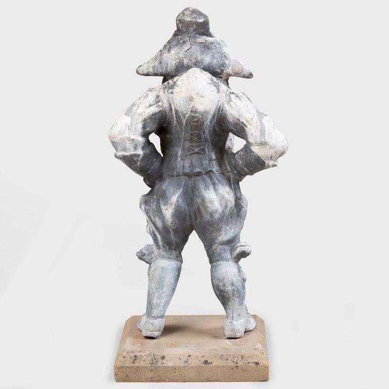 19th Century Lead Garden Statue of Punch In Good Condition For Sale In Essex, MA