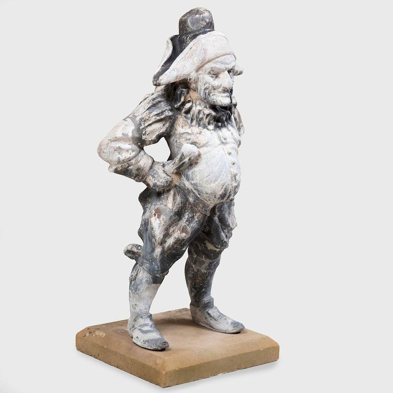 19th Century Lead Garden Statue of Punch For Sale 1