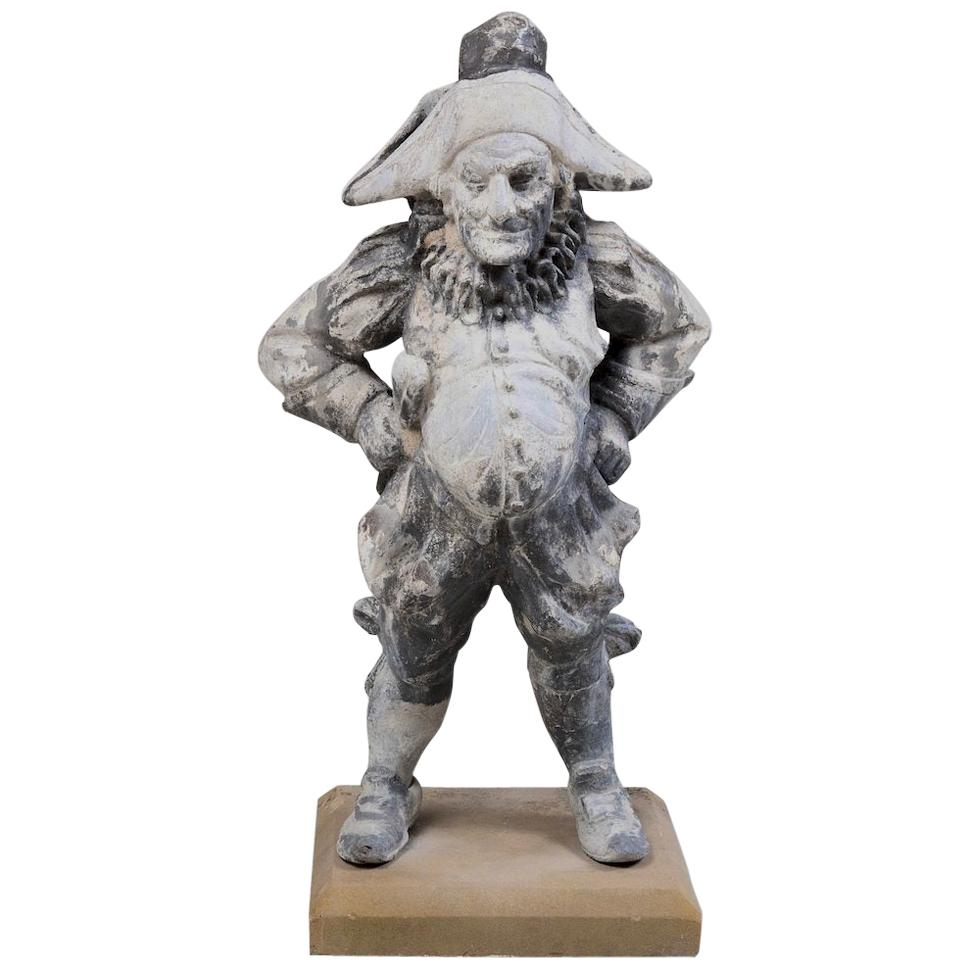 19th Century Lead Garden Statue of Punch