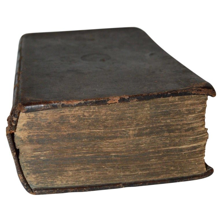 19th century leather-bound Swedish Bible book