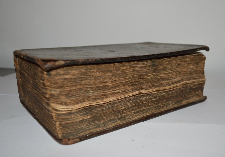 19th Century Leather-Bound Swedish Bible Book For Sale 4