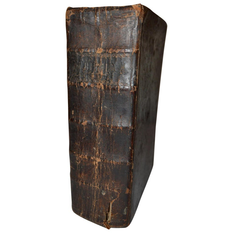 19th Century Leather-Bound Swedish Bible Book For Sale