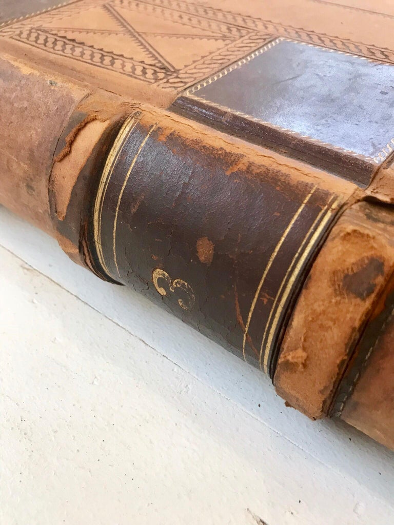 19th Century Leather Ledger Book For Sale 4