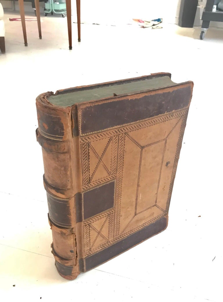 Other 19th Century Leather Ledger Book For Sale