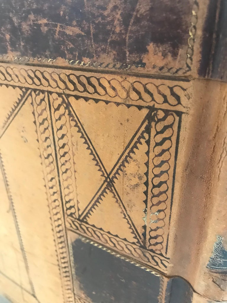 19th Century Leather Ledger Book For Sale 1