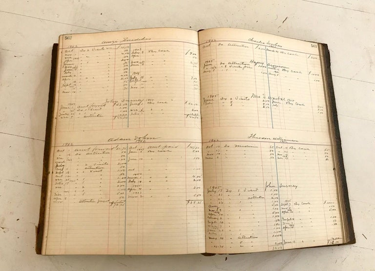 19th Century Leather Ledger Book For Sale 2