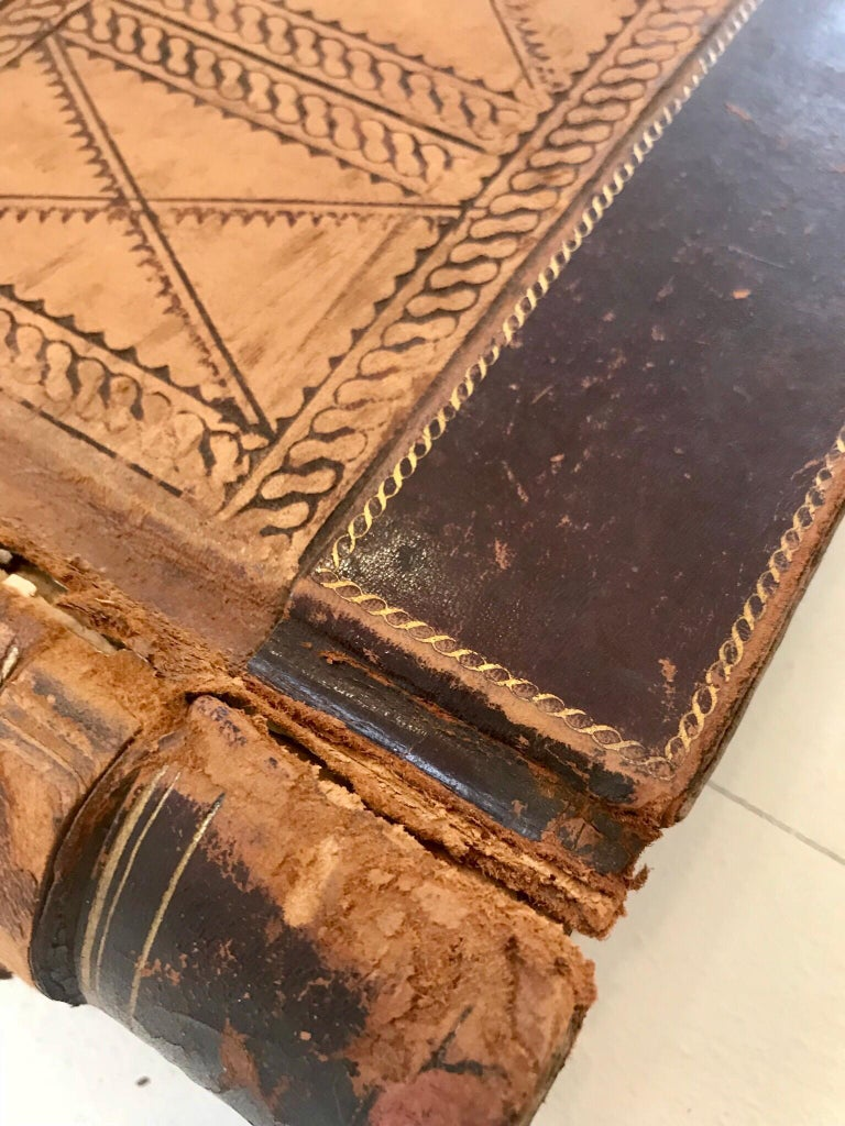 19th Century Leather Ledger Book For Sale 3