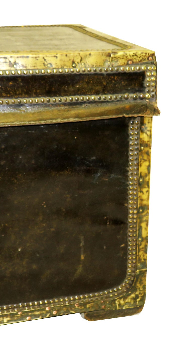 19th Century Leather Military Campaign Trunk For Sale 1