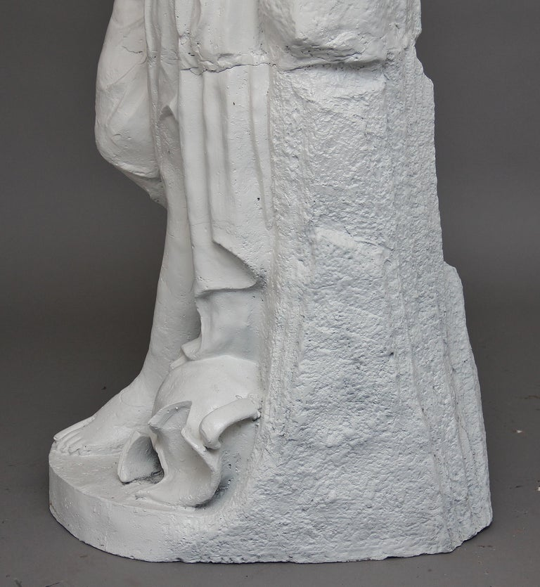 19th Century Life-Size Cast Iron Statue For Sale 4