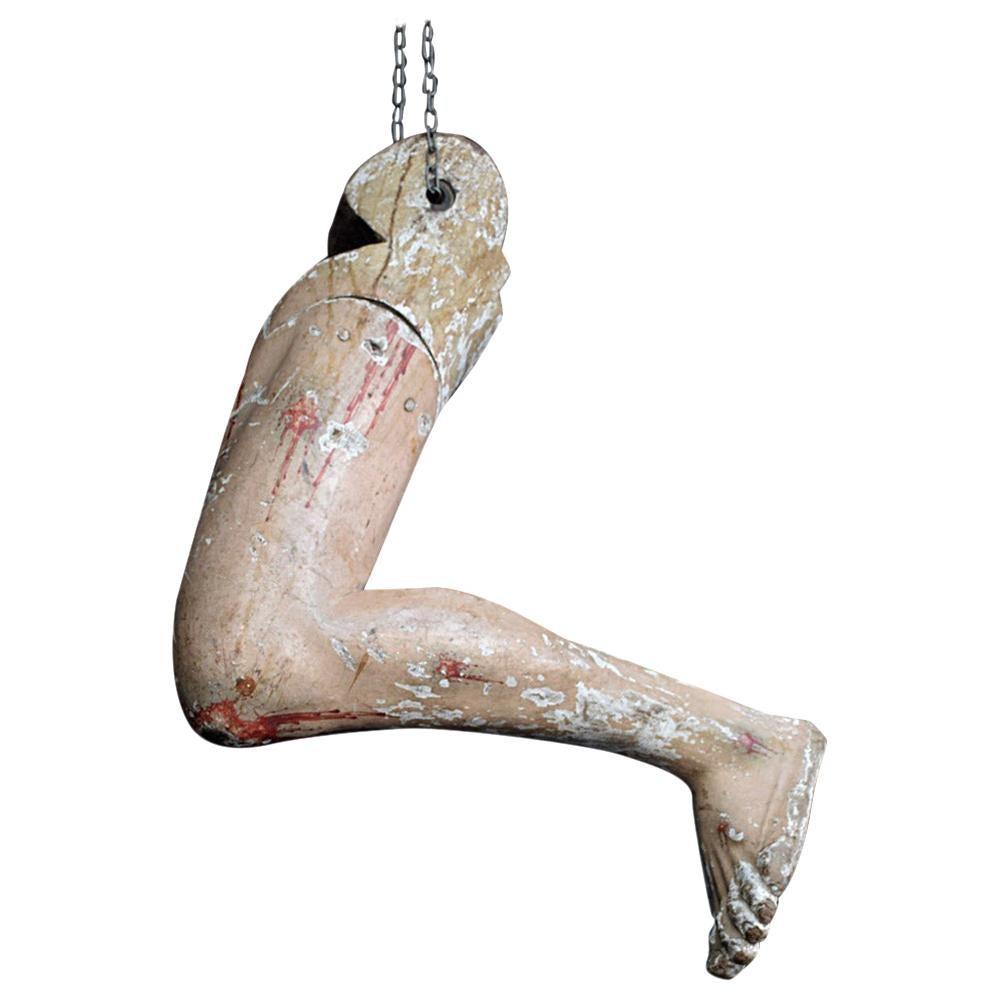 19th Century Life-Size Corpus Christi Figure Leg