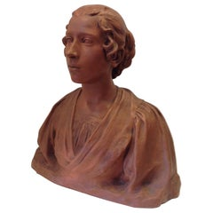 19th Century Life-Size Terracotta Bust