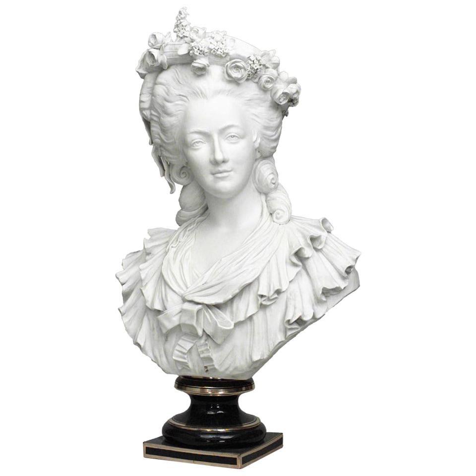 French Louis XVI Porcelain Bust