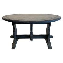 19th Century Light-Grey Italian Pinewood Folding Table