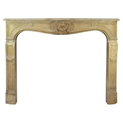 19th Century Limestone Mantelpiece in the Style of Louis XV
