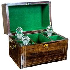 19th Century Liqueur Set with a Storage Box