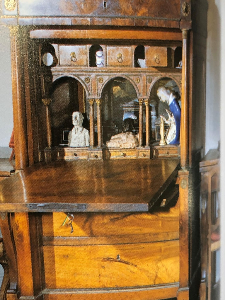 19th Century Lombard Italian Empire Wood Walnut Secretaire with Marble, 1810 For Sale 15